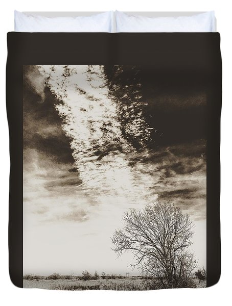 Wetlands Meet Chemtrails Duvet Cover