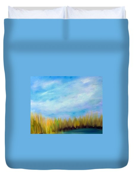 Wetlands Morning Duvet Cover