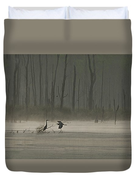 Wetlands Morning Duvet Cover