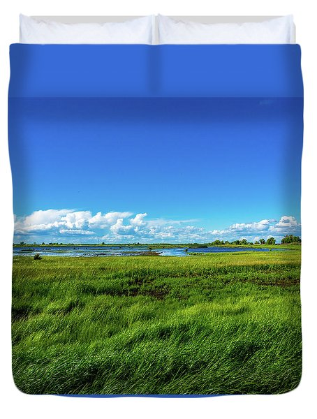 Wetlands On A Windy Spring Day Duvet Cover