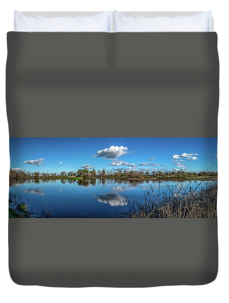 Wetlands Panorama  Duvet Cover