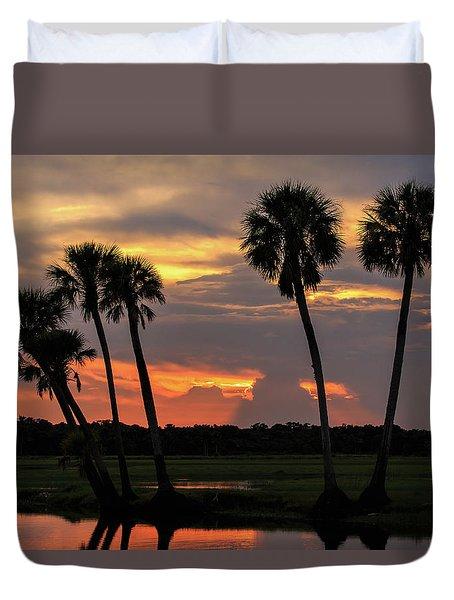 Wetlands Sunset Duvet Cover