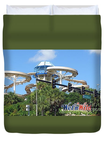 Wet'n Wild Ride. Orlando, Fl Duvet Cover