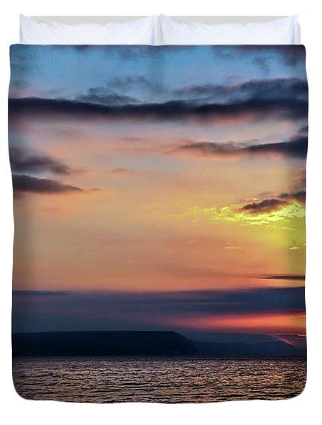 Weymouth Esplanade Sunrise Duvet Cover