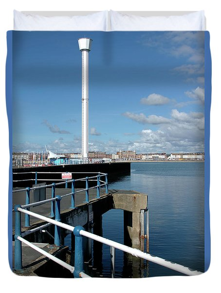 Weymouth Pavillion Pier And Tower Duvet Cover by Baggieoldboy
