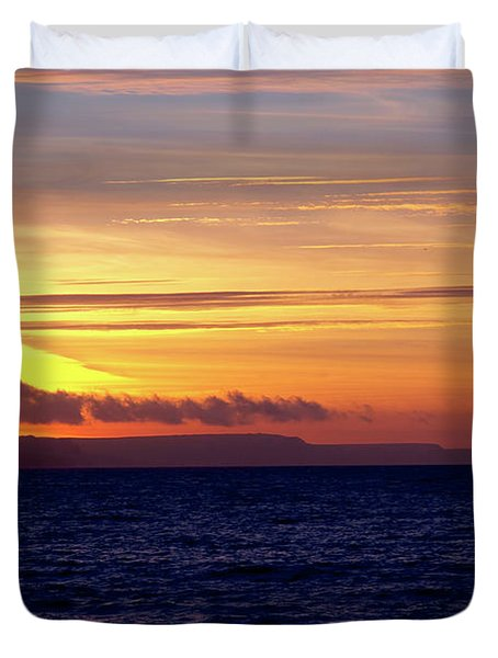 Weymouth To Purbeck Duvet Cover