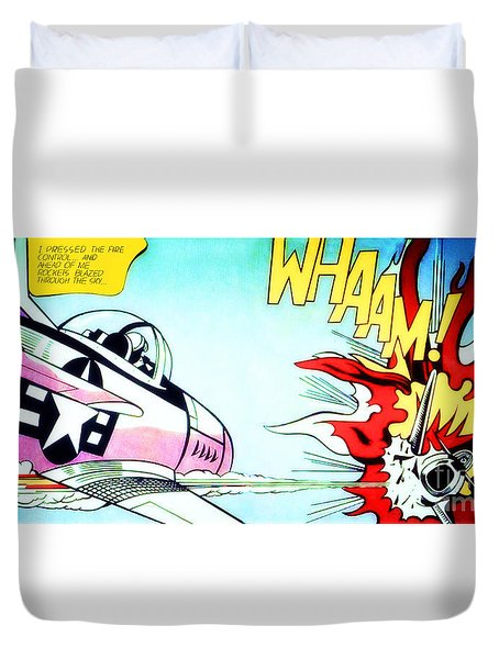 Whaam - Roy Lichtenstein  Duvet Cover