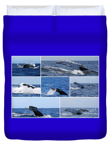 Whale Action Duvet Cover