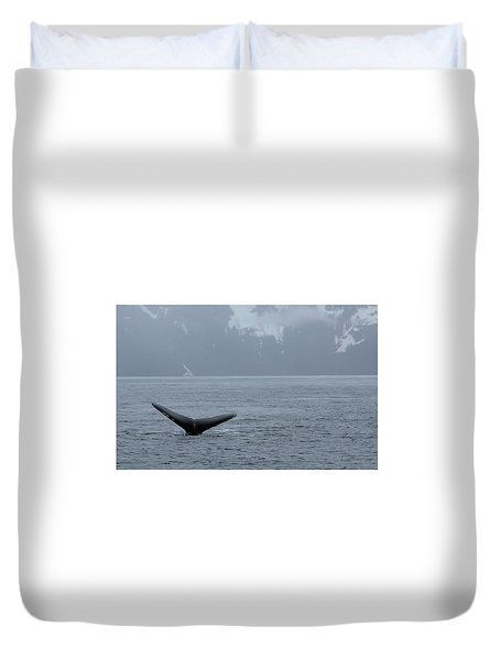 Duvet Cover featuring the photograph Whale Fluke by Brandy Little