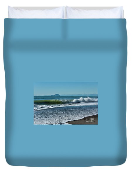 Duvet Cover featuring the photograph Whale Island by Werner Padarin