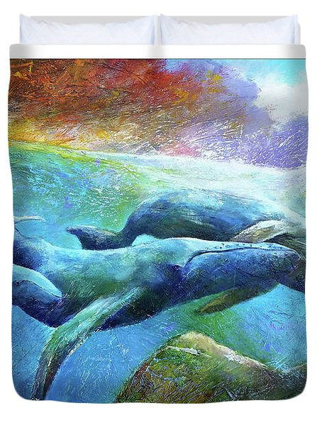 Whale Watch Duvet Cover