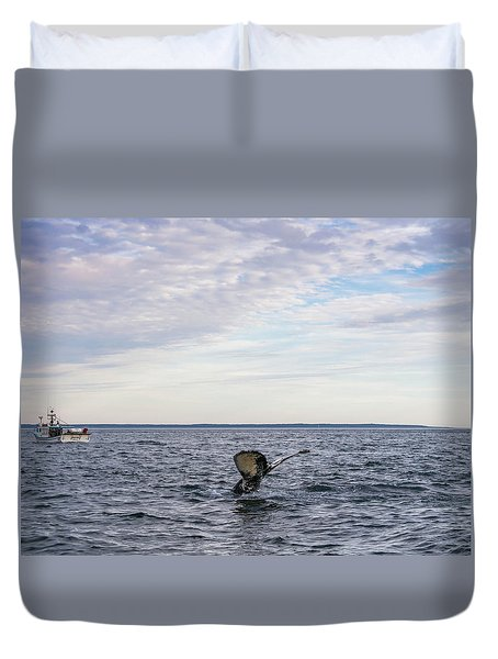 Whale Watching In Canada Duvet Cover