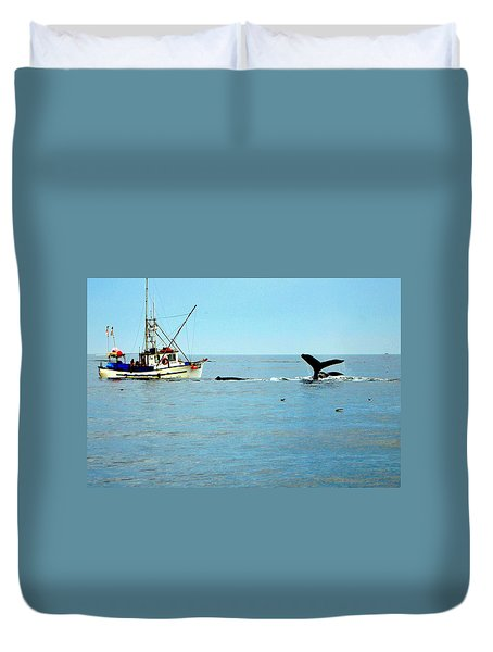 Whale Watching Moss Landing Series 26 Duvet Cover