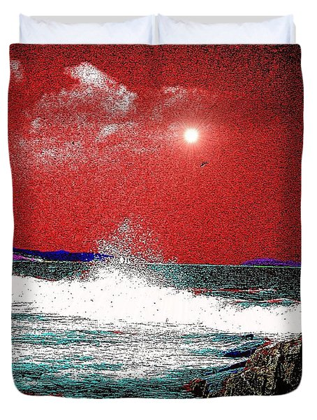 Whaleback At Peaks Island Maine Duvet Cover