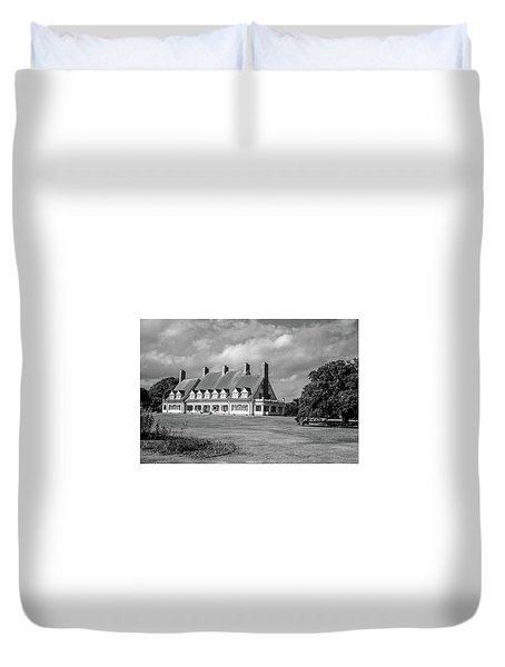 Duvet Cover featuring the photograph Whalehead Club by David Sutton