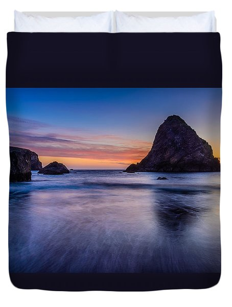 Whaleshead Beach Sunset Duvet Cover