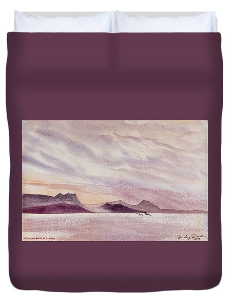 Whangarei Heads At Sunrise, New Zealand Duvet Cover