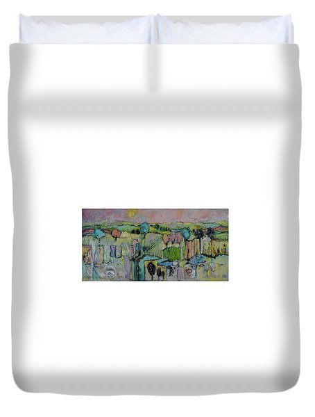 What A Bird Sees Duvet Cover by Sharon Furner