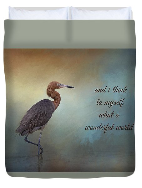 What A Wonderful World Duvet Cover by Kim Hojnacki