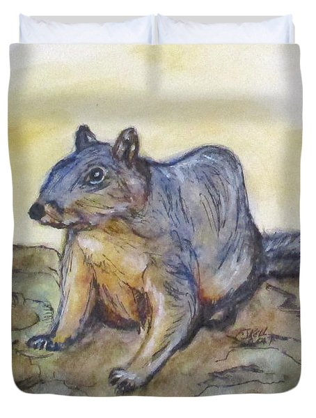 What Are You Looking At? Duvet Cover by Clyde J Kell