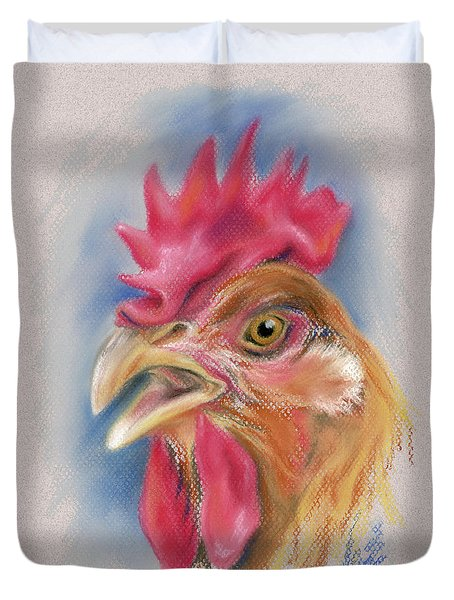 What Did The Hen Say? Duvet Cover