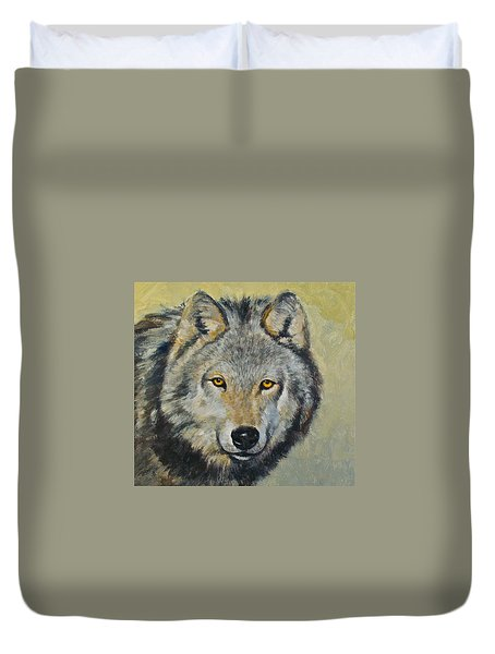 Duvet Cover featuring the painting Heres Lookn At You..kid....kid....kid by Cliff Spohn
