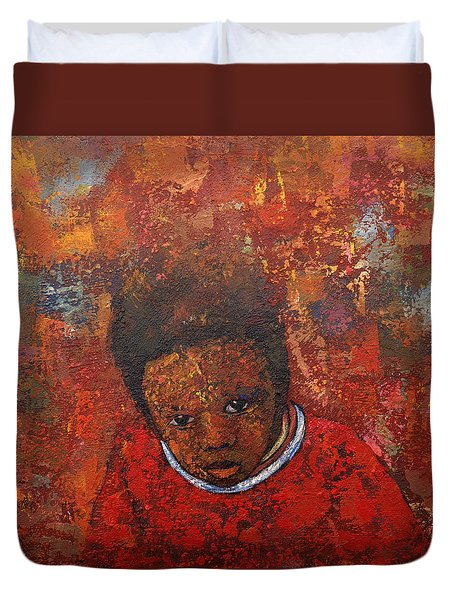 What Do U See Duvet Cover by Ronex Ahimbisibwe