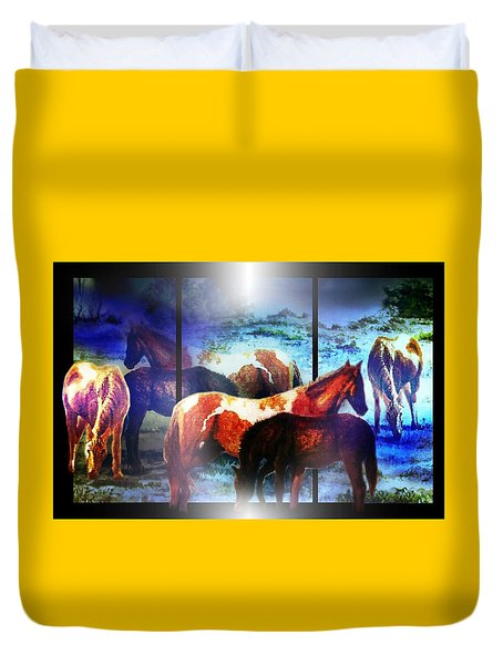 What  Horses Dream Duvet Cover