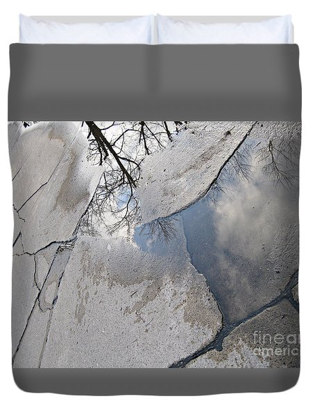 What I Like About Rainy Days Duvet Cover by Sandra Church
