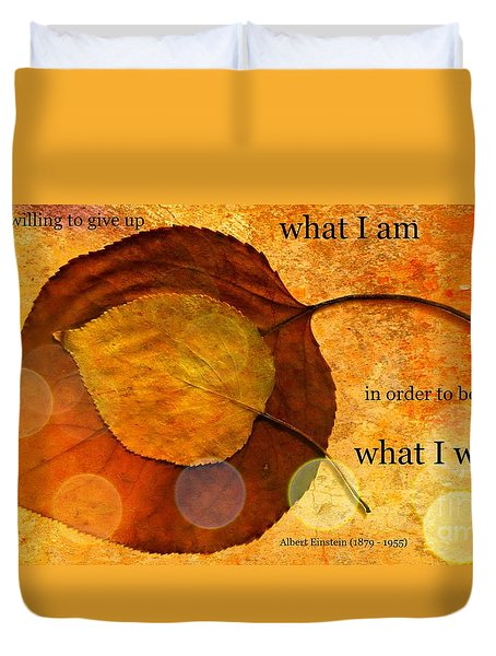 What I Will Be Duvet Cover by Leanne Seymour