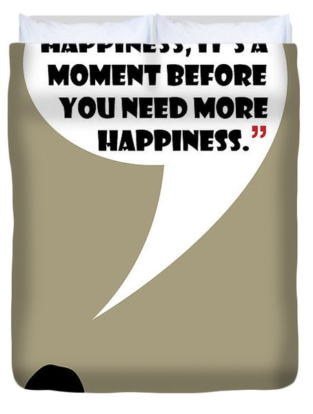 What Is Happiness - Mad Men Poster Don Draper Quote Duvet Cover
