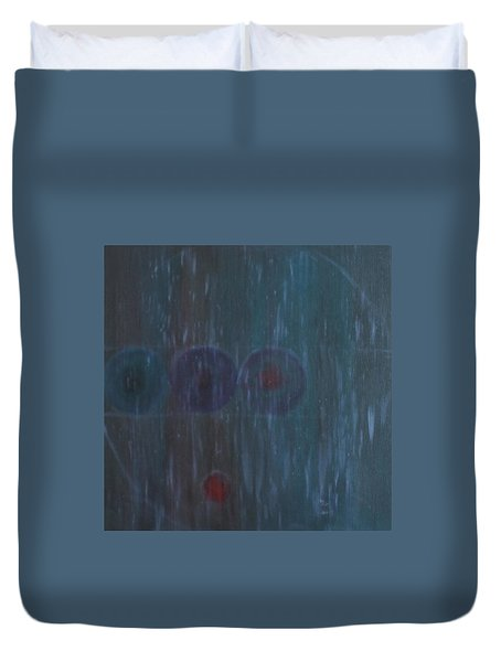 Duvet Cover featuring the painting What Is Life? by Min Zou