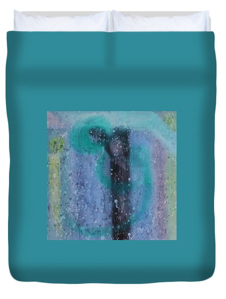 Duvet Cover featuring the painting What Is From The Deep Heart? by Min Zou