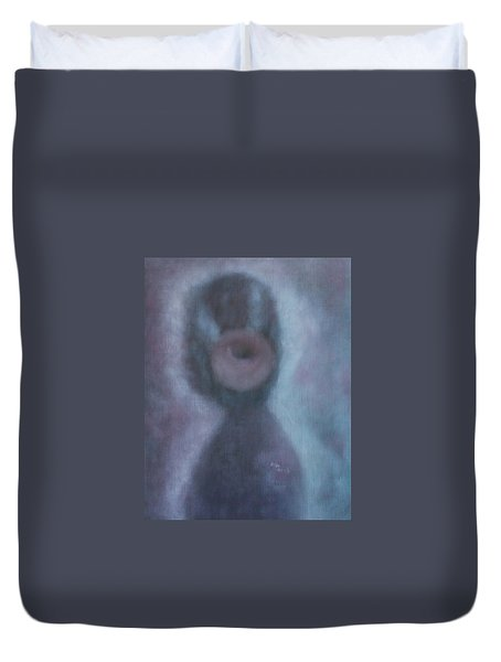 Duvet Cover featuring the painting What Is The Human Value? by Min Zou