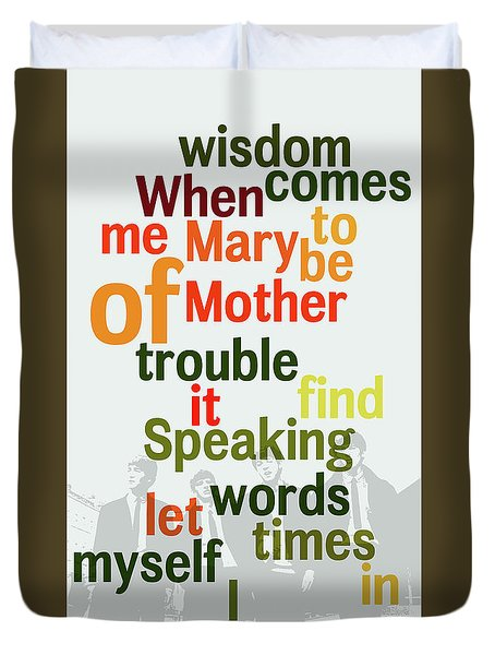 What Is The Name Of The Song? Funny Poster And Game For Music Lovers Duvet Cover