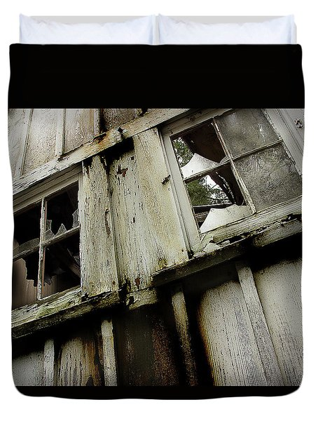 Duvet Cover featuring the photograph What Lies Within by Mike Eingle