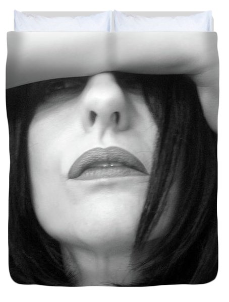 What No One Can See - Self Portrait Duvet Cover