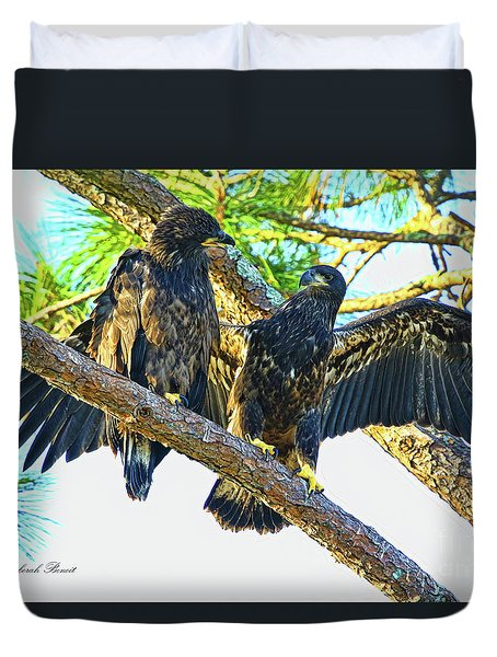 Duvet Cover featuring the photograph What Shall I Say by Deborah Benoit
