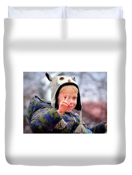 What The World Needs Now Duvet Cover by Barbara Dudley