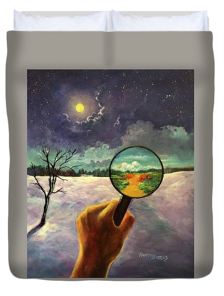 What We Choose To See Duvet Cover