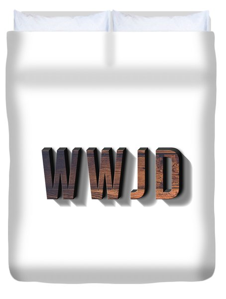 What Would Jesus Do Tee Duvet Cover