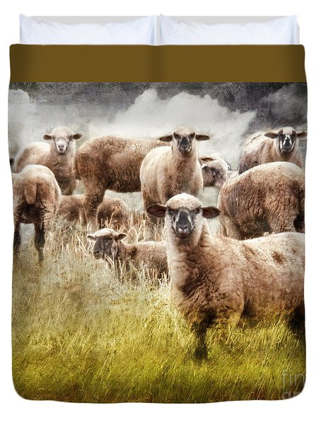 Duvet Cover featuring the photograph What You Lookin' At? by Rhonda Strickland