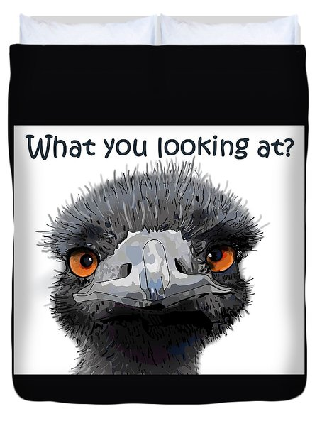 What You Looking At? Duvet Cover