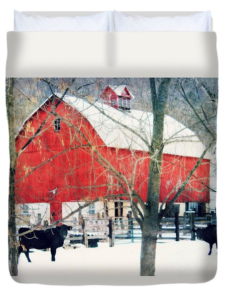 Duvet Cover featuring the photograph Whatcha Looking At by Julie Hamilton