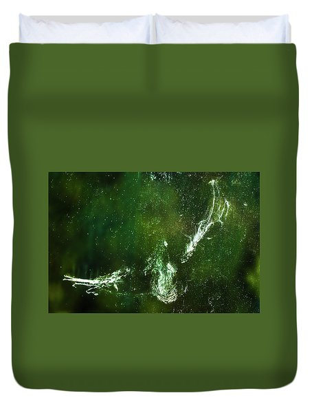 Duvet Cover featuring the photograph Whatever You Do Leave Your Mark by Onyonet  Photo Studios