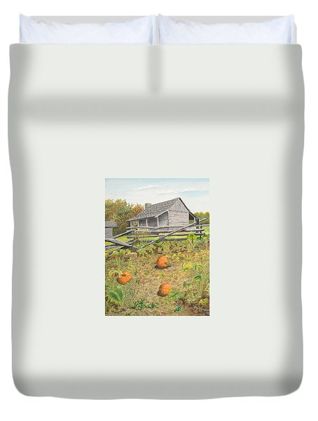 What's Left Of The Old Homestead Duvet Cover by Norm Starks