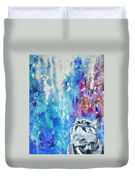 What's Up? Duvet Cover by Betty M M Wong