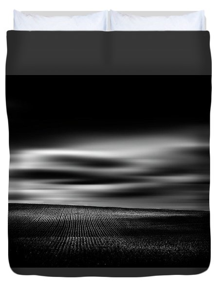 Duvet Cover featuring the photograph Wheat Abstract by Dan Jurak