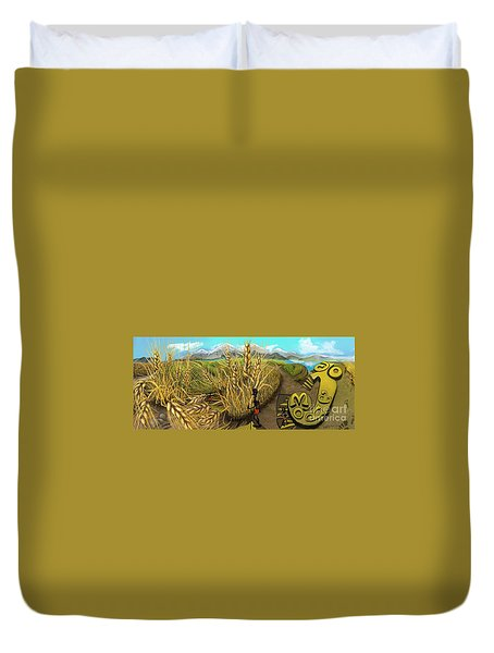 Wheat Field Day Dreaming Duvet Cover