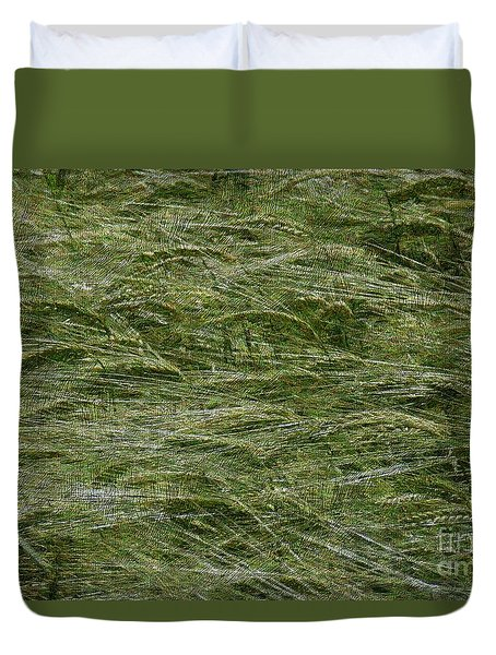 Duvet Cover featuring the photograph Wheat Field by Jean Bernard Roussilhe